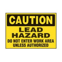 Chemical Safety Labels - Caution Lead Hazard Do Not Enter