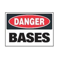 Chemical Safety Labels - Danger Bases
