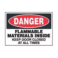 Chemical Safety Labels - Danger Flammable Materials Inside