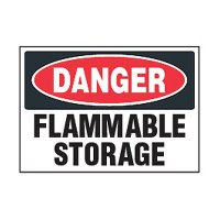 Chemical Safety Labels - Danger Flammable Storage