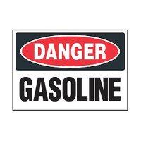 Chemical Safety Labels - Danger Gasoline