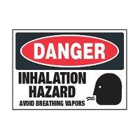 Chemical Labels - Danger Inhalation Hazard Avoid Breathing