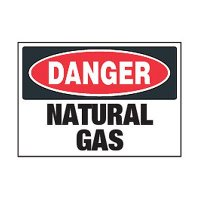 Chemical Safety Labels - Danger Natural Gas