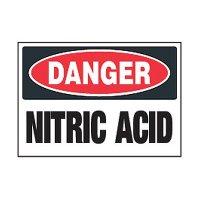 Chemical Safety Labels - Danger Nitric Acid