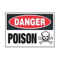 Chemical Safety Labels - Danger Poison (With Symbol)