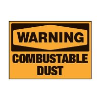 Chemical Safety Labels - Warning Combustible Dust