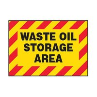 Chemical Safety Labels - Waste Oil Storage Area