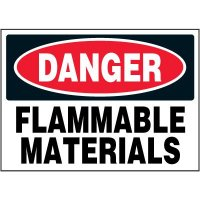 Chemical Labels - Danger Flammable Materials