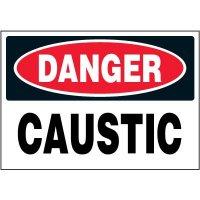 Chemical Labels - Danger Caustic