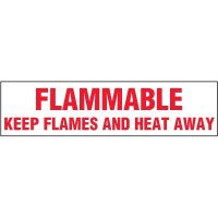 Chemical Labels - Flammable Keep Flames And Heat Away