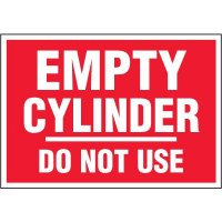Chemical Labels - Empty Cylinder Do Not Use