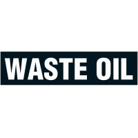 """Chemical Labels - Waste Oil 2-1/4"""" x 9"""""""