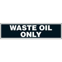 Chemical Labels - Waste Oil Only