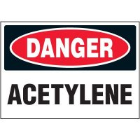 Chemical Labels - Danger Acetylene