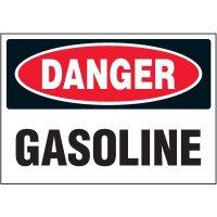 Chemical Labels - Danger Gasoline