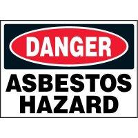 Chemical Labels - Danger Abestos Hazard