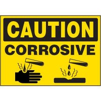 Chemical Labels - Caution Corrosive