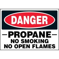 Chemical Labels - Danger Propane No Smoking No Open Flames