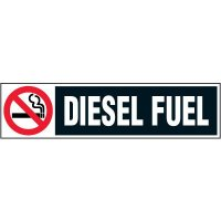 Chemical Labels - Diesel Fuel with No Smoking Symbol