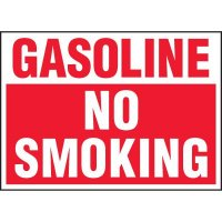 Chemical Labels - Gasoline No Smoking