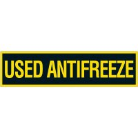 Chemical Labels - Used Antifreeze