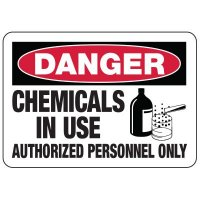 Chemical Warning Signs - Danger Chemicals In Use