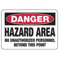 Chemical Warning Signs - Danger Hazard Area