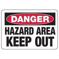 Chemical Warning Signs - Danger Hazardous Area