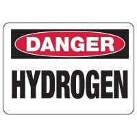 Chemical Warning Signs - Danger Hydrogen