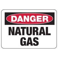 Chemical Warning Signs - Danger Natural Gas