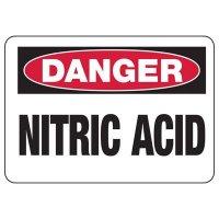Chemical Warning Signs - Danger Nitric Acid