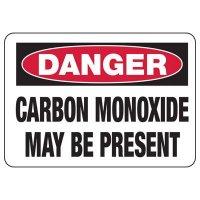 Chemical Warning Signs - Danger Carbon Monoxide