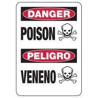Chemical Warning Signs - Danger Poison Peligro Veneno