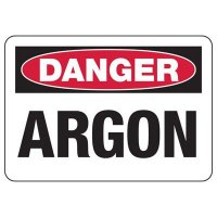 Danger Argon Safety Sign