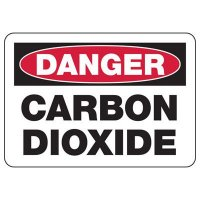 Danger Carbon Dioxide Safety Sign