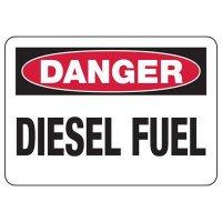 Danger Diesel Fuel Safety Sign