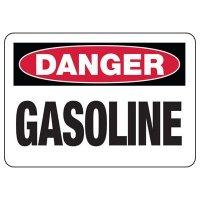 Danger Gasoline Safety Sign