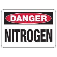 Danger Nitrogen Safety Sign