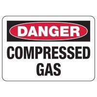 Danger Compressed Gas Safety Sign