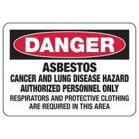 Danger Asbestos Hazard Safety Sign