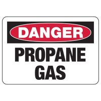 Danger Propane Gas Sign