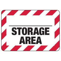 Blank Storage Area Safety Sign