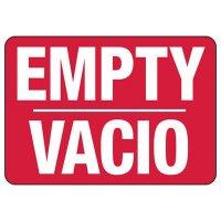 Bilingual Empty Sign