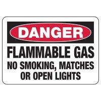 Danger Flammable Gas Sign