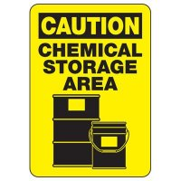 Caution Chemical Storage Area Safety Sign