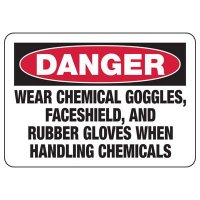 Danger Wear Chemical Protection Sign