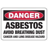 Asbestos Avoid Breathing Dust Sign
