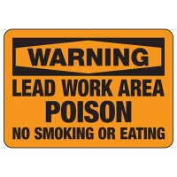 Warning Lead Work Area Poison Sign