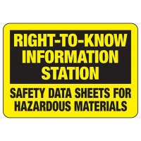 Right To Know Information Station Sign