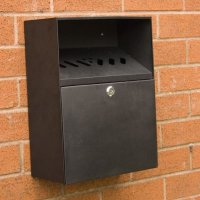 Black Steel Smoking Waste Receptacles